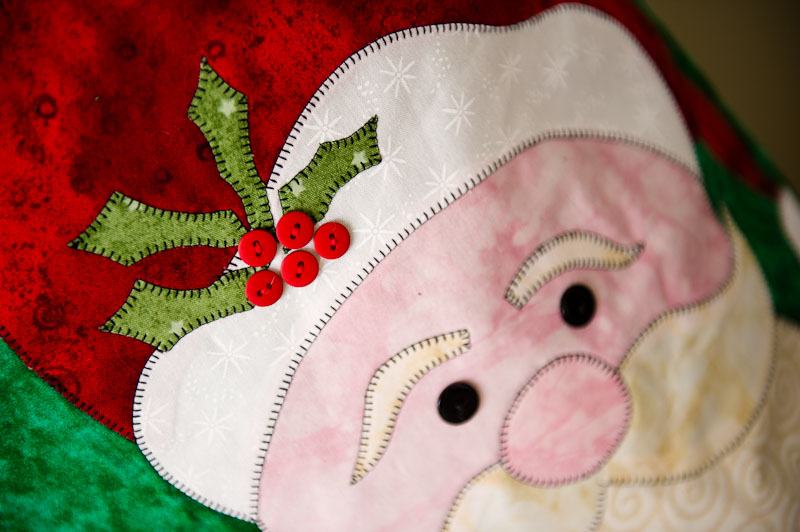 Santa Appliqué Detail