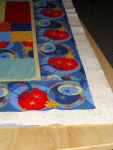 sandwiching a quilt