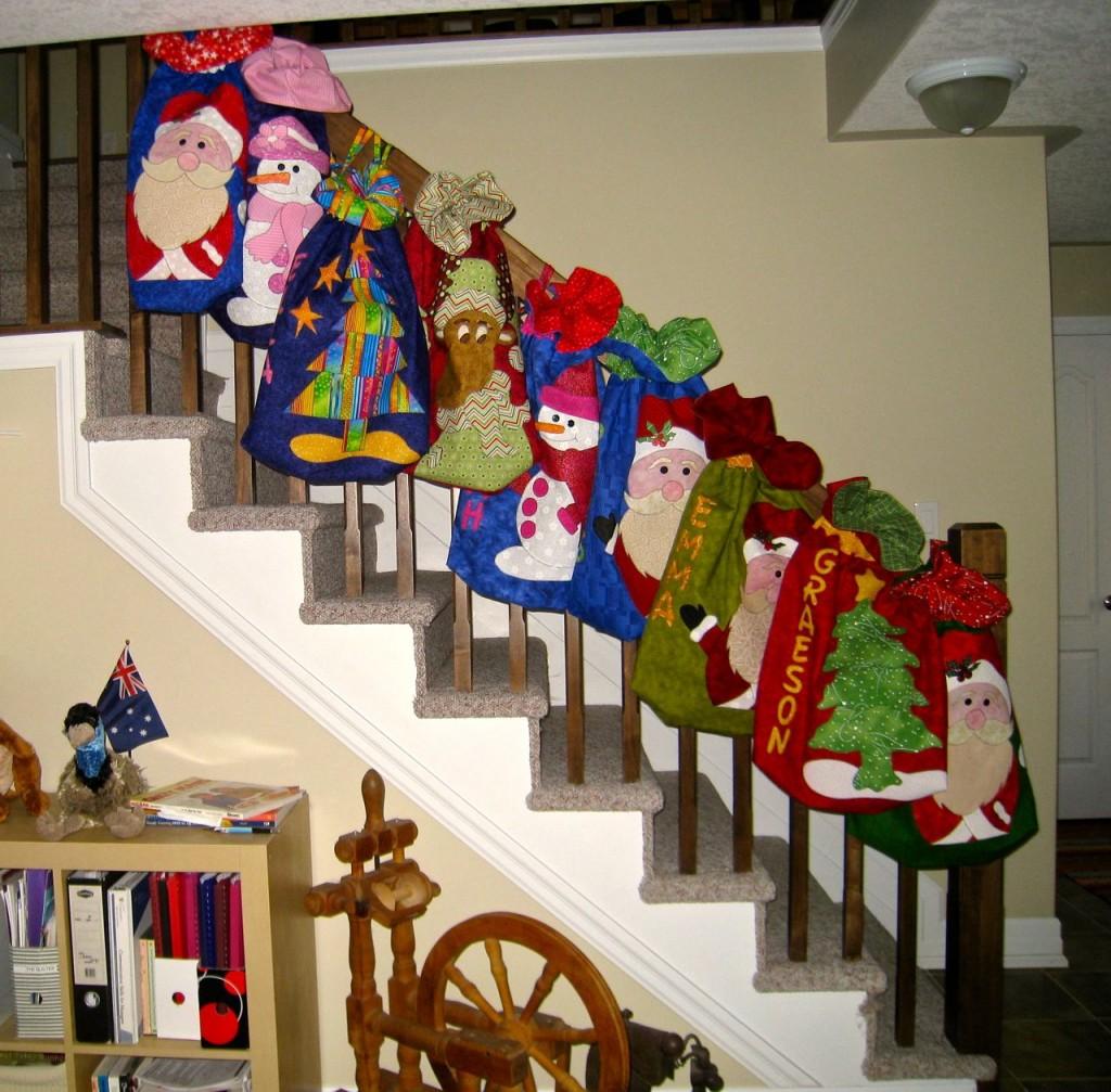Completed Christmas Santa Sacs
