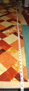 Measure along each vertical edge and the middle.