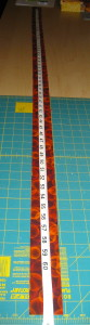 Measure the length of the border strip.