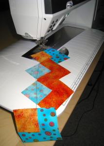 Chain sewn pieces.