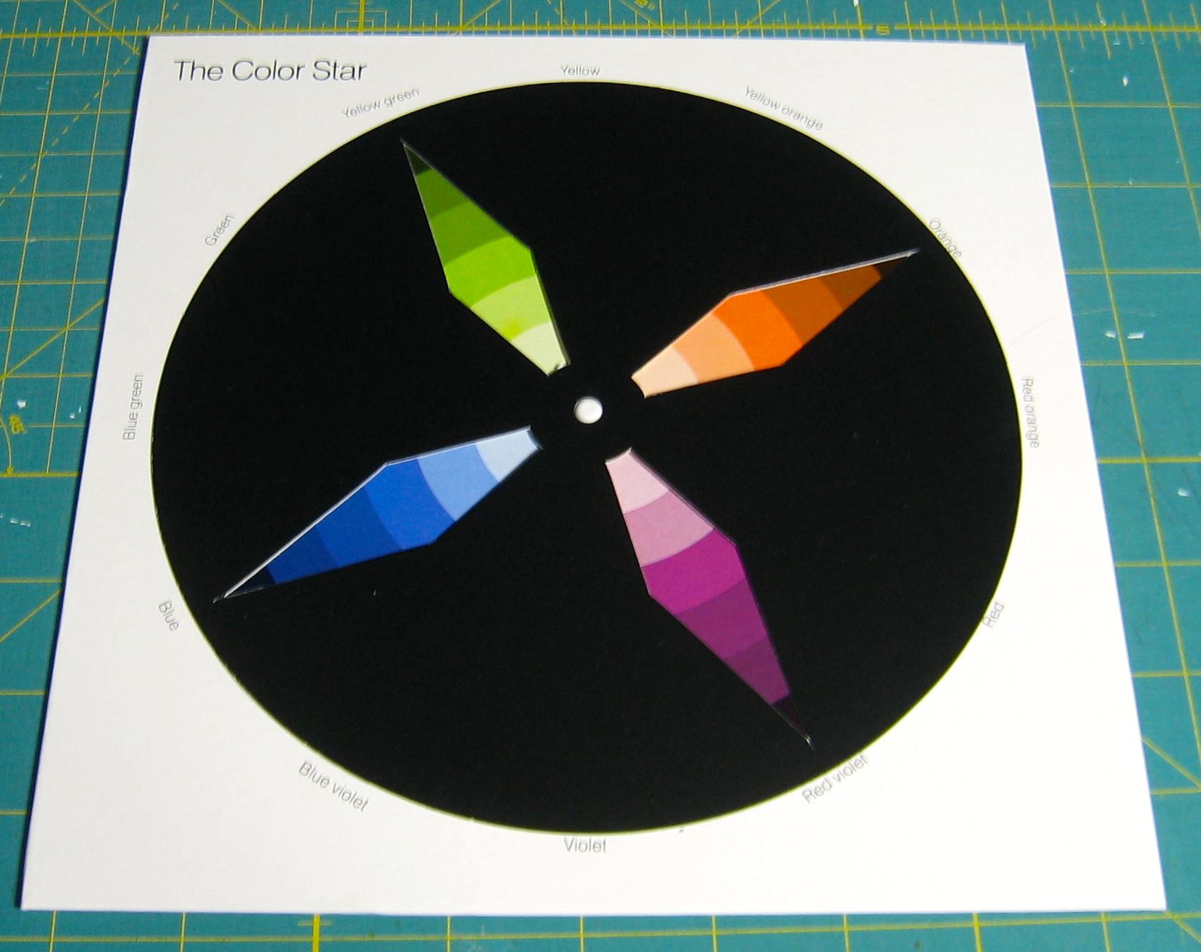 It's just a graphic of Adaptable Star Wheel Printable