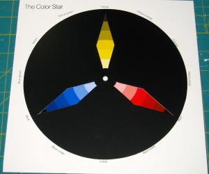 A triadic colour scheme using the appropriate die.