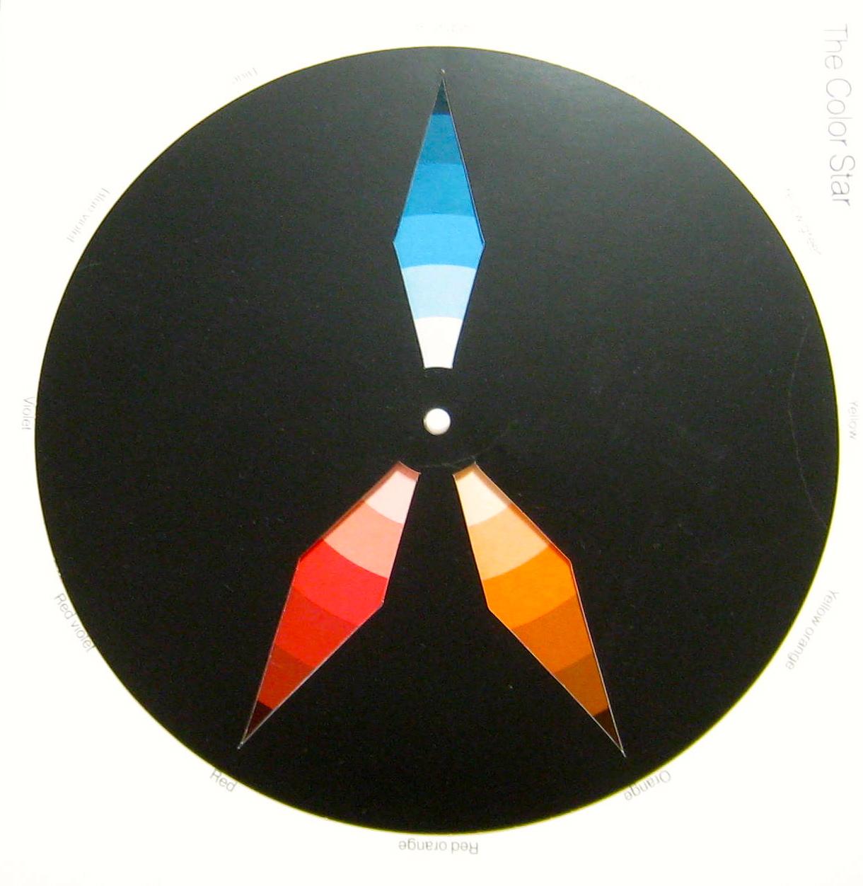 Split-complimentary colours