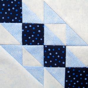 6 ½″ inch block Road to Heaven quilt block