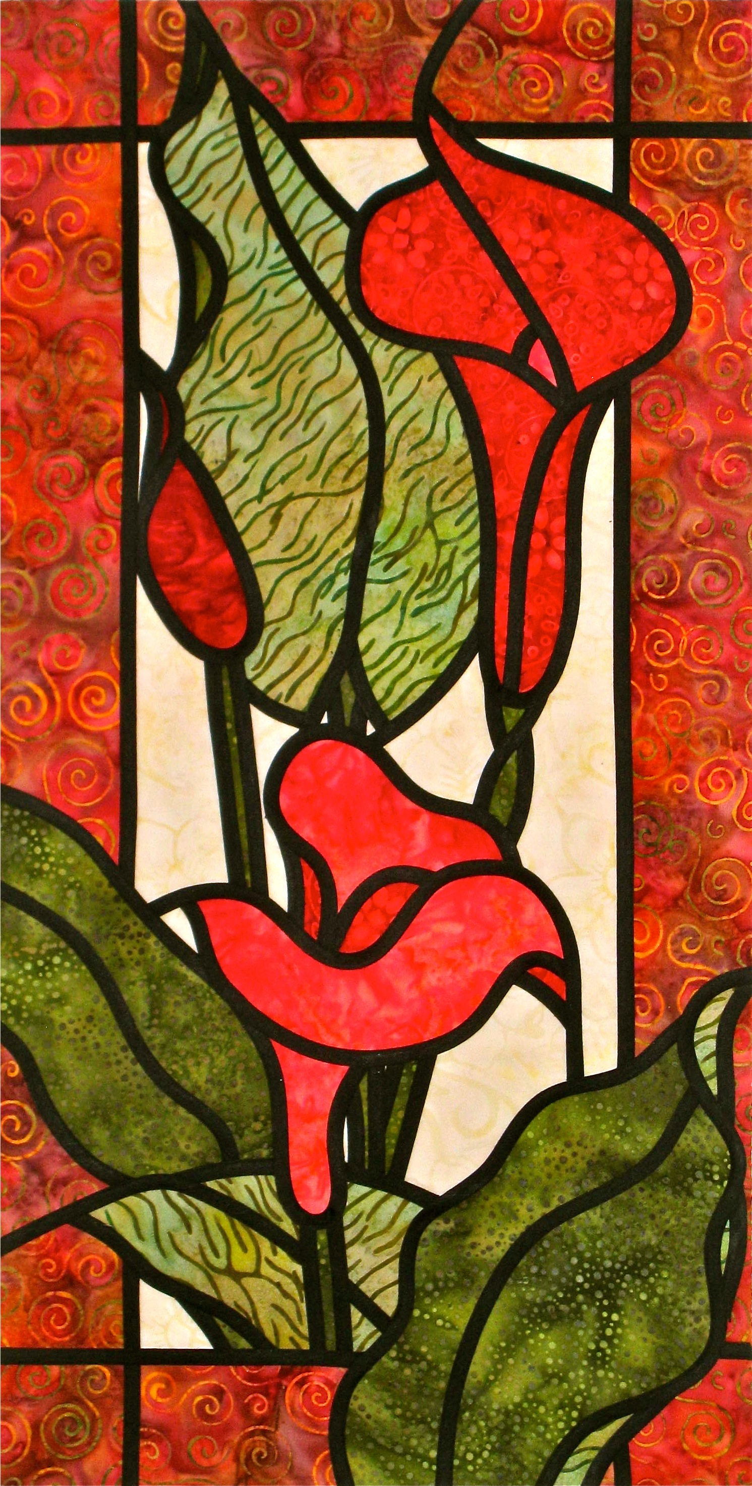 Colourful Callas A Stained Glass Quilt Quilts By Jen