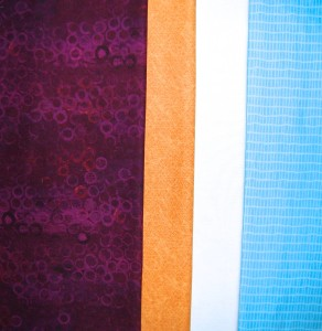 Triadic Scheme fabric selection.