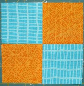 Four patch unit measuring 4 ½″ square.