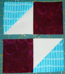 Sew pairs together as per layout in photo.