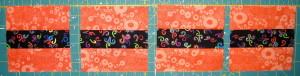 Cut 8 - 3 ½″ squares