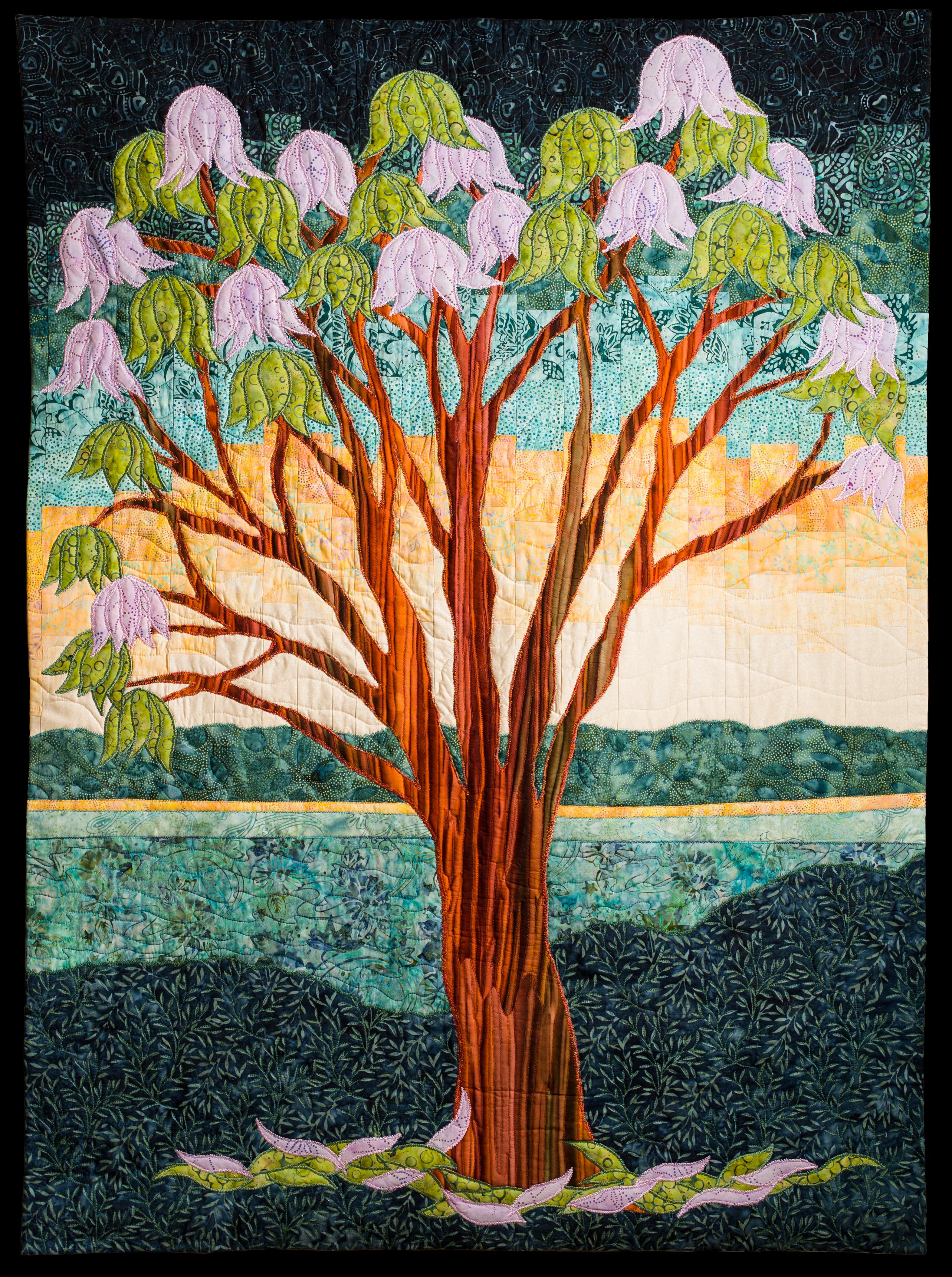 Jacaranda Tree Art Quilt Quilts By Jen