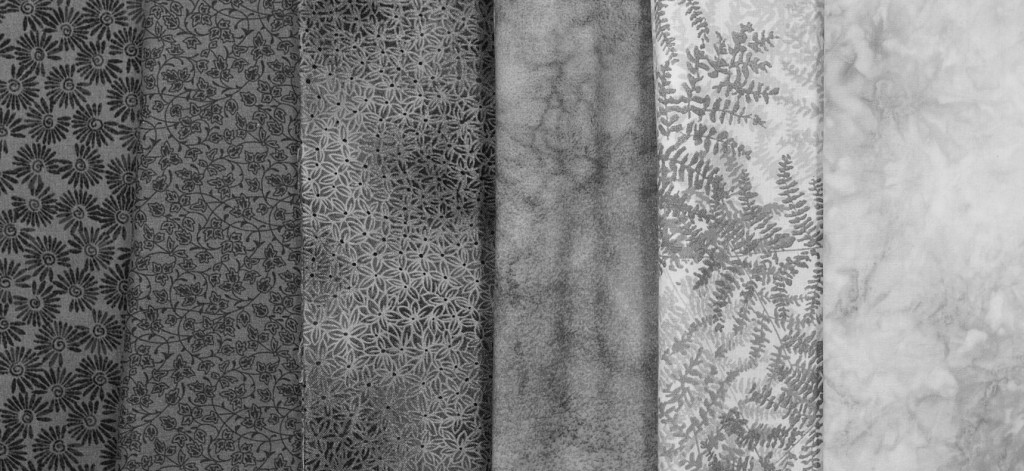 Photo changed to B&W to make it easier to see the value of the fabric