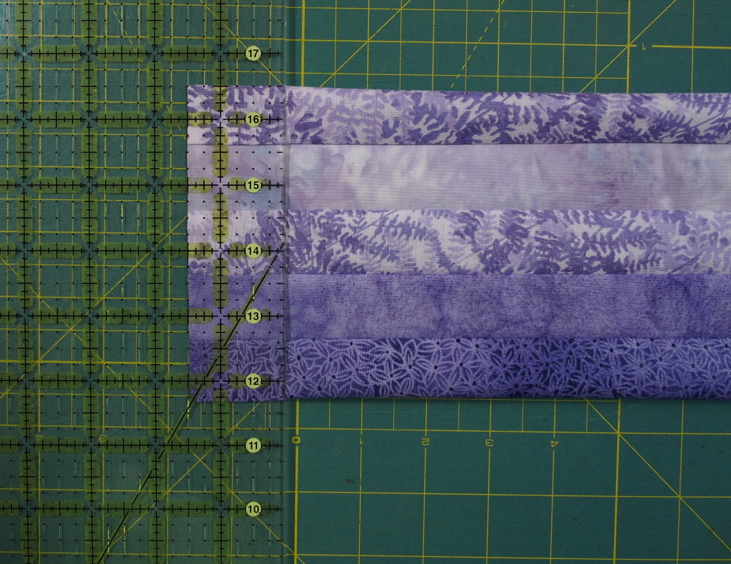 Cut first strip as instructed