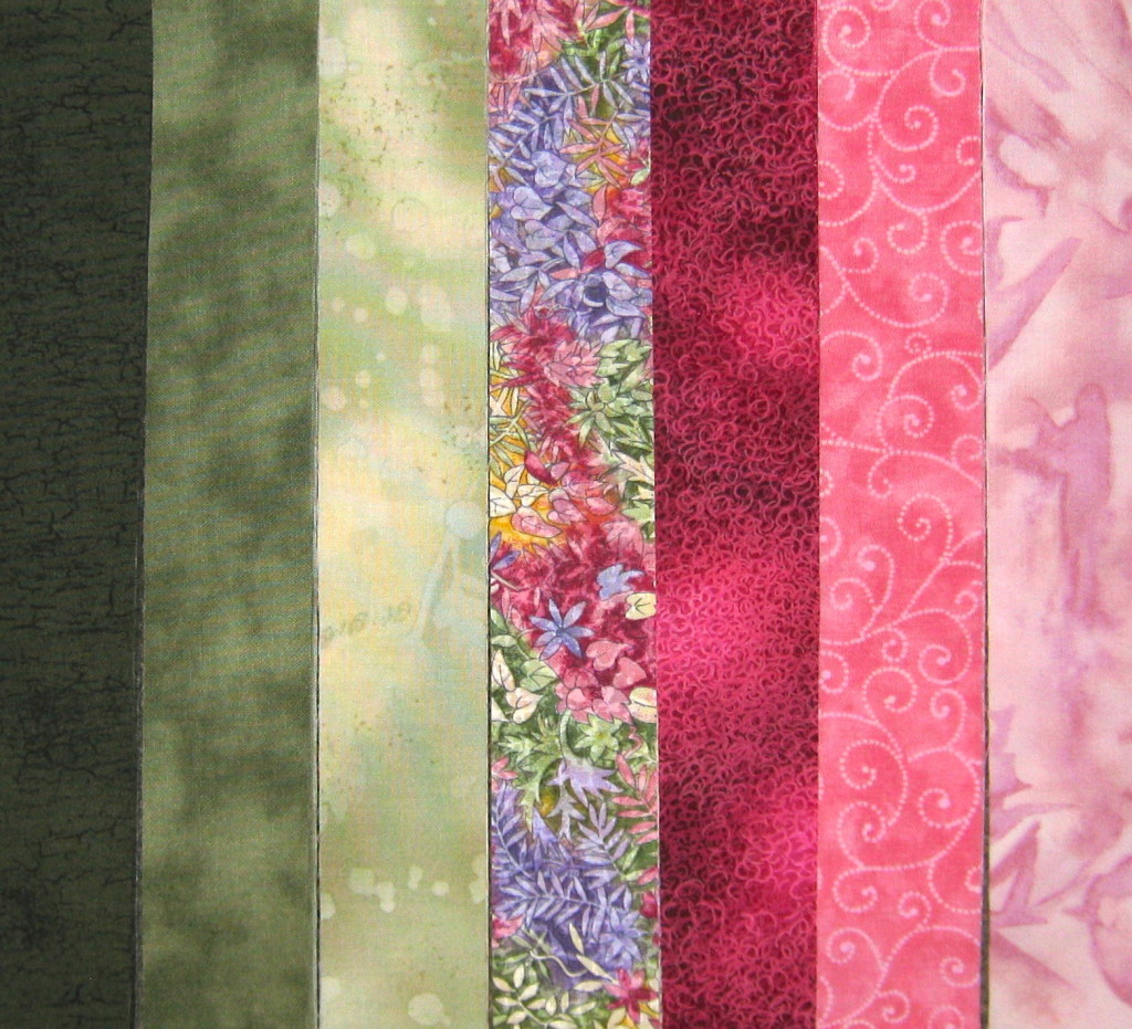 The fabrics I chose to make my wall hanging with