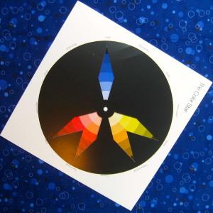 blue dominant split complimentary plus scheme on the colour star