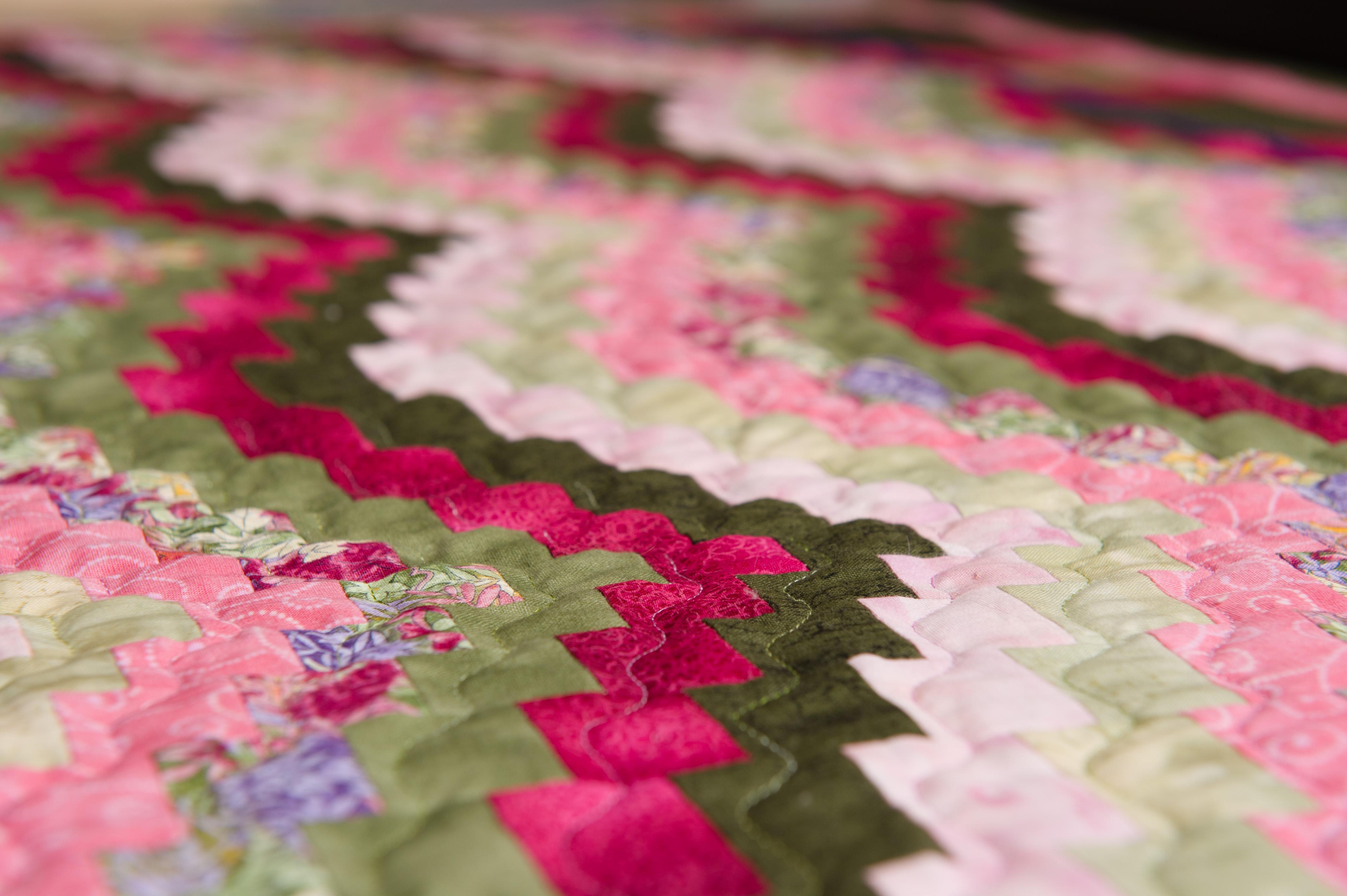 Bargello In Spring An Easy Beginner Bargello Quilt