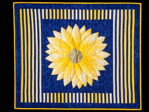 Bargello Dahlia Flower Applique Quilt Pattern