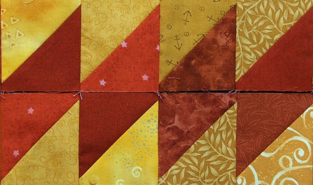 10 Border Designs Made With Half Square Triangles Part 1