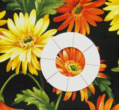 Kaye Wood's View & Do Fussy Cutting Templates with the smallest circle