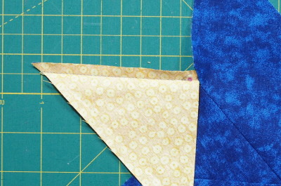 close up view of stitching