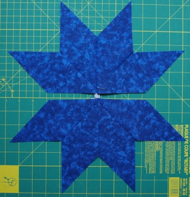 2 half sections of the star