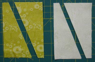 several half triangles cut