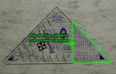 corner triangles cut here