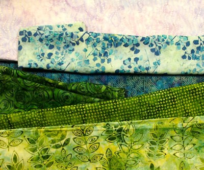 auditioning fabrics for the landscape