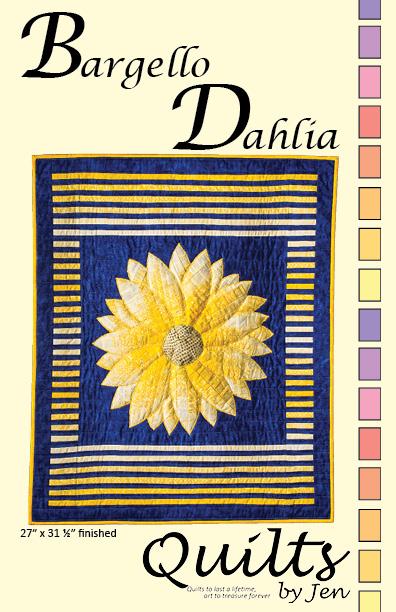 Bargello Appliqué Dahlia Flower Wall Hanging Quilt Pattern