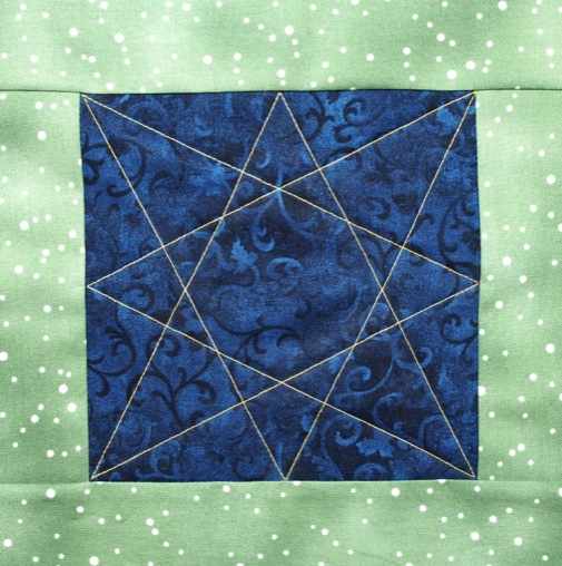 Eight Pointed Star A Continuous Line Quilting Motif