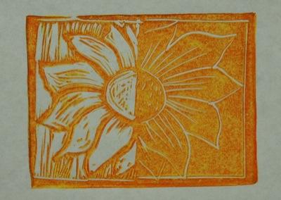 Orange & yellow sunflower
