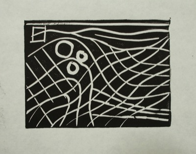 black and white ink print on paper