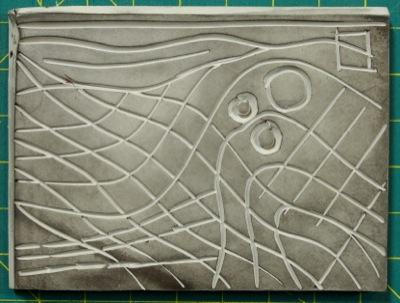 lines and shapes on the lino