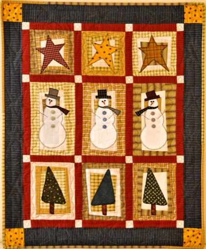 Stars Trees Snowmen A Christmas Wall Hanging Quilts By Jen
