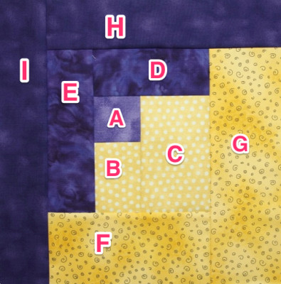 Pieces labelled with corresponding letter