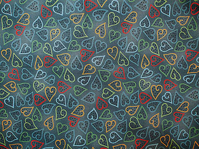 fabric with a heart motif
