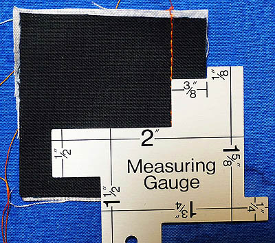 A seam sewn at ⅜″
