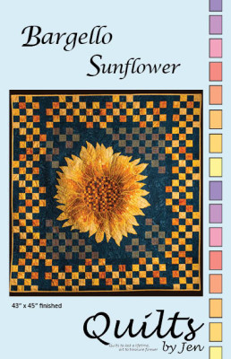 Bargello Sunflower Quilt Pattern Front Cover