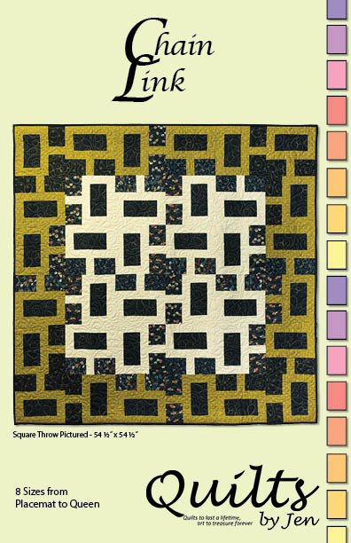 Chain Link Modern Quilt Pattern Cover