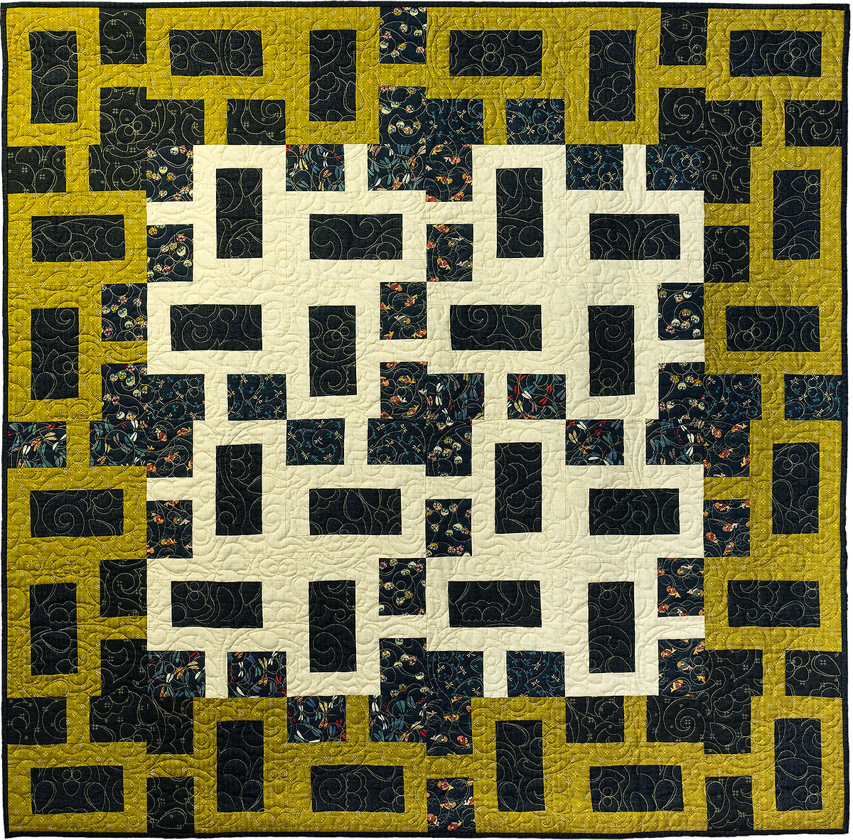 Chain Link Modern Geometric Quilt Pattern Quilts By Jen