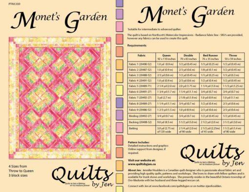 Monet's Garden Quilt Pattern Fabric Requirements