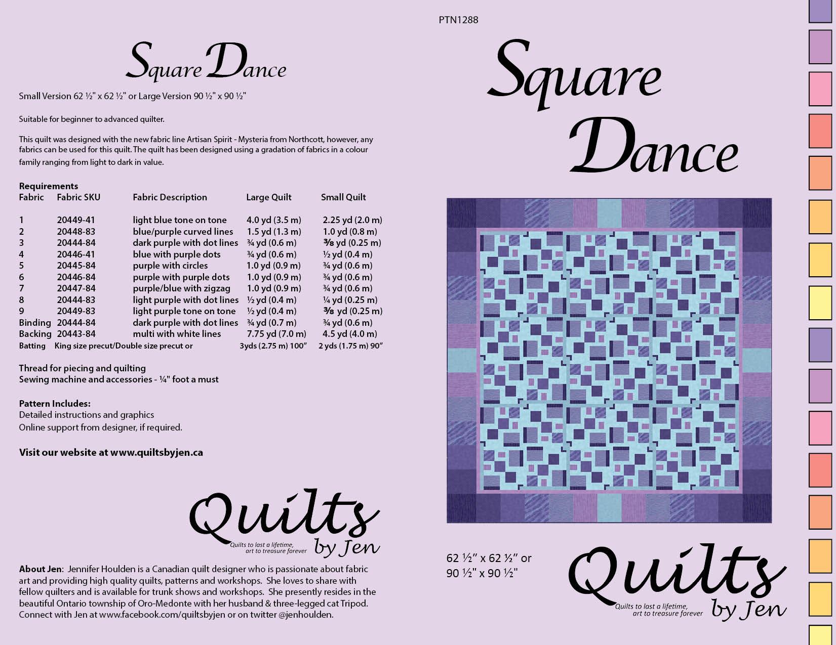 Square Dance Modern Quilt Pattern Download