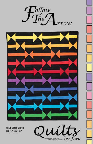 Follow The Arrow Modern Quilt Pattern Cover