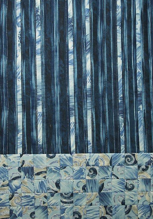 Wintery blue fabrics