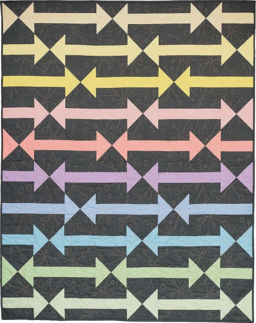 Follow the Arrow Pastel Colorful Modern Quilt