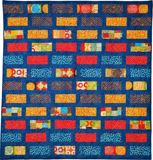 Shuffled Bricks Modern Geometric Quilt