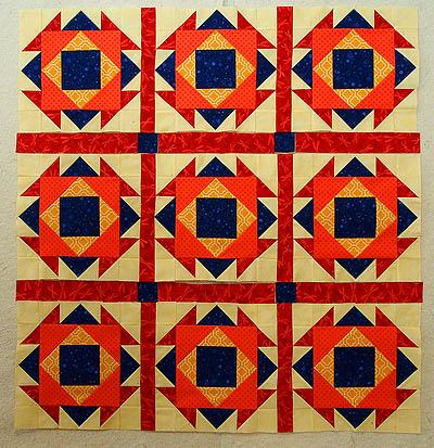 Aztec Jewel block quilt