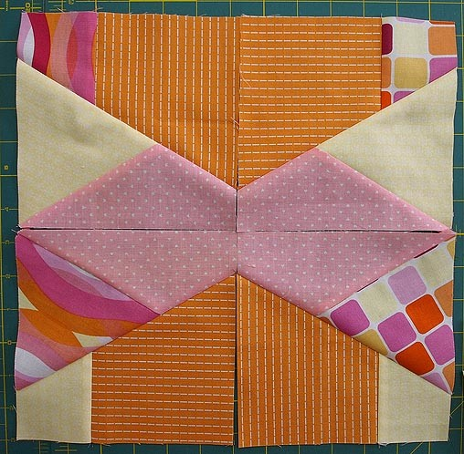 Sewing Up The Scrap Crazy Pieces Into Blocks