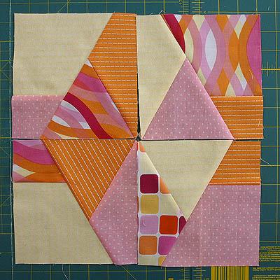 Multi - coloured diamond block